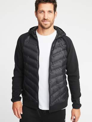 Old Navy Go-Warm Quilted Fusion Hooded Jacket for Men