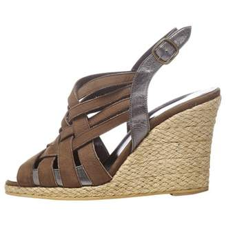 The Kooples Brown Leather Sandals