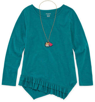 Arizona Long Sleeve Ruffle Hem Tunic - Girls' 4-16 & Plus