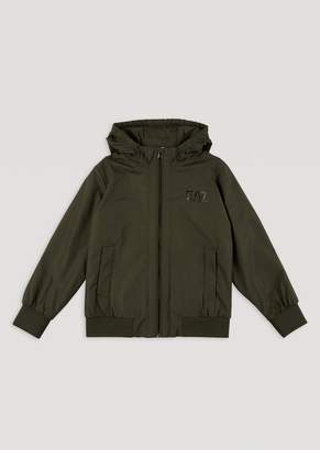 Emporio Armani Ea7 BoyS Jacket With Hood And Full Zip Fastening