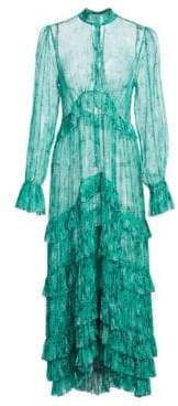 Zimmermann Women's Moncur Pleated Silk Floral Shirtdress - Turquoise - Size 0 (2-4)