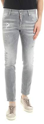 DSQUARED2 Grey Wash Skater Jeans