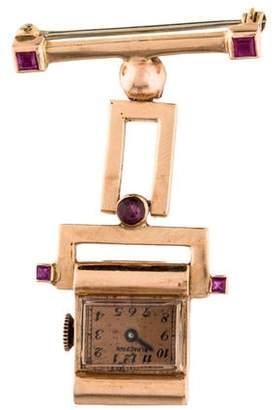 Blancpain Ruby Lapel Pin Watch