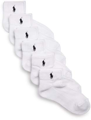 Ralph Lauren Sport Quarter Pony Socks, Set of 6