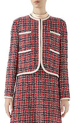Gucci Women's Long-Sleeve Tweed Four-Pocket Jacket