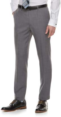 Marc Anthony Men's Slim-Fit Gray Crosshatch Stretch Suit Pants