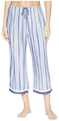 Donna Karan Striped Capri Pants Women's Pajama
