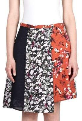 Acne Studios Floral Asymmetrical Skirt