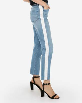 Express High Waisted Side Stripe Original Girlfriend Jeans