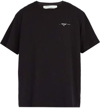 Off-White Off White Logo Print Cotton T Shirt - Mens - Black