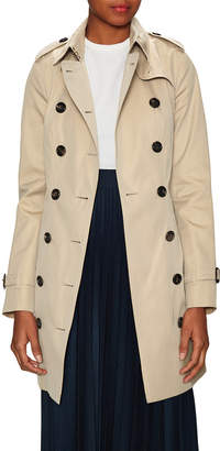 Burberry Sandringham Mid-Length Heritage Trench Coat