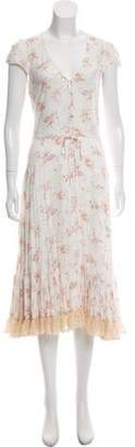 Nightcap Clothing Floral Printed Midi Dress w/ Tags