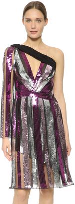 Rodarte Sequin One Shoulder Dress - ShopStyle Cocktail