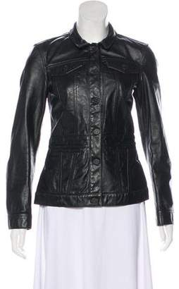 Acne Studios Pointed Collar Leather Jacket