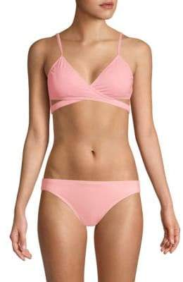 Vince Camuto Wrapped Bikini Top
