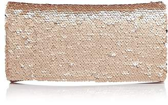 Aqua Sequin Foldover Clutch - 100% Exclusive