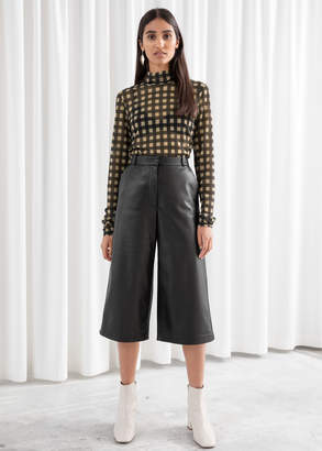 And other stories Leather Culotte Shorts