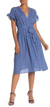 Max Studio Ruffle Sleeve Midi Dress