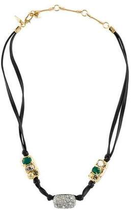 Alexis Bittar Multistone Leather Choker