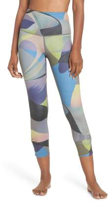 Zella Katya High Waist Abstract Print Recycled Crop Leggings
