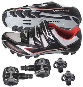 Shimano Venzo Mountain Bike Bicycle Cycling SPD Shoes + Pedals & Cleats 43 (Black )