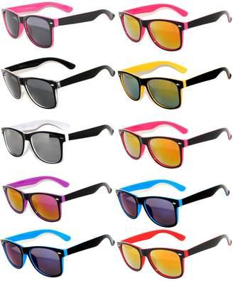OWL 36 Pieces Per Case Wholesale Lot Sunglasses. Assorted Colored Frame Fashion Sunglasses.Bulk Sunglasses - Wholesale Bulk Party Glasses, Party Supplies.