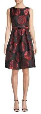 Eliza J Fit Flare Floral Dress
