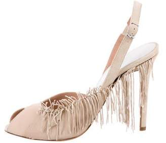 Maison Margiela Fringe Peep-Toe Pumps w/ Tags