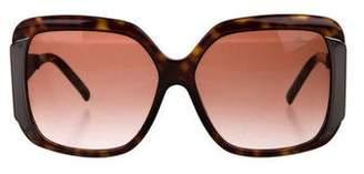 Chopard Tortoiseshell Square Sunglasses