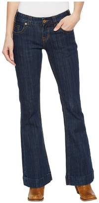 Rock and Roll Cowgirl Trousers Bootcut in Dark Wash W8-5098 Women's Jeans