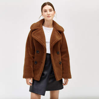Warehouse Short Teddy Bear Coat