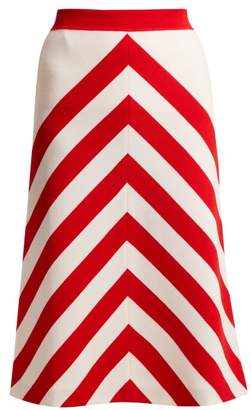Gucci Striped Wool Skirt - Womens - White Multi