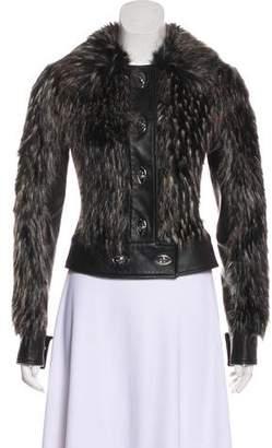 Rachel Zoe Leather Moto Jacket