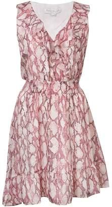 Rachel Zoe snakeskin print asymmetric dress
