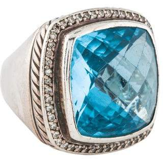 David Yurman Topaz & Diamond Albion Ring