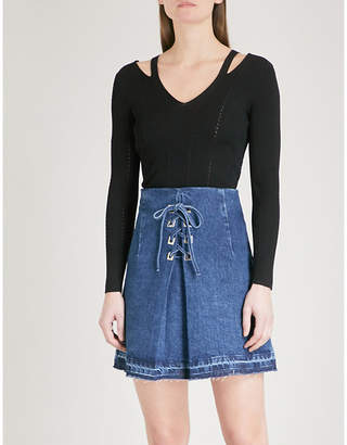 Sandro Cutout-detail knitted top
