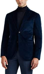 "Boglioli Men's ""K Jacket"" Stretch-Cotton Velvet Two-Button Sportcoat - Navy"
