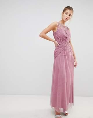 Little Mistress Knot Waist Maxi Dress