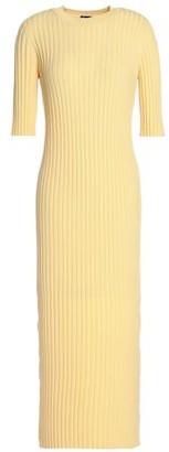 Joseph Ribbed Wool-Blend Midi Dress
