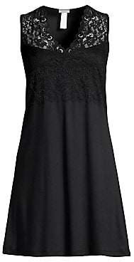 Hanro Women's Moments Lace Tank Night Gown