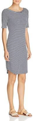 Three Dots Desert Stripe Scoop Back Dress