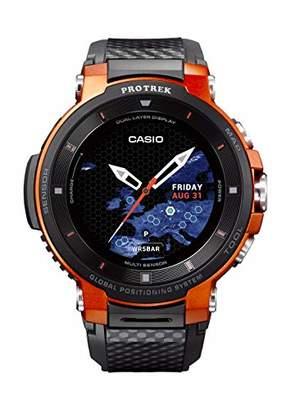 Casio Pro Trek Stainless Steel Quartz Watch with Resin Strap
