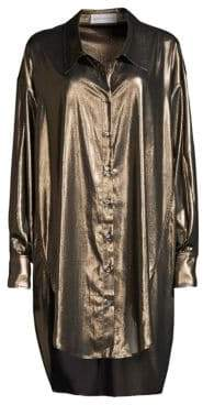 Faith Connexion Metallic Oversized Blouse