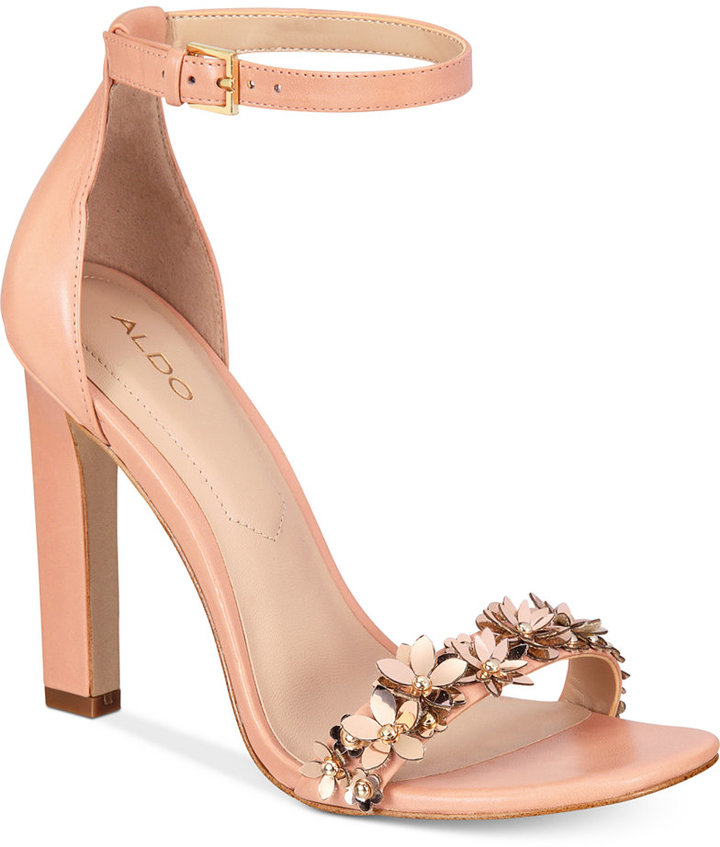 ALDO Mila Two-Piece Block-Heel Sandals