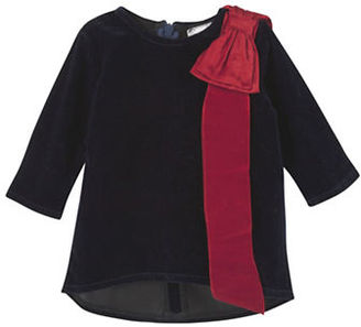 Andy & Evan Baby Girls Velvet Bow Top $49 thestylecure.com