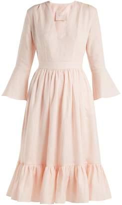 LOUP CHARMANT Sea Island tie-waist linen dress