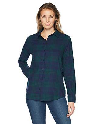 Amazon Essentials Women's Long-Sleeve Classic-Fit Lightweight Plaid Flannel Shirt Shirt