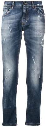 Dolce & Gabbana stonewashed ripped jeans