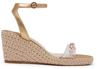 Sophia Webster Lucita Embellished Espadrille Wedge Sandals - Womens - Gold