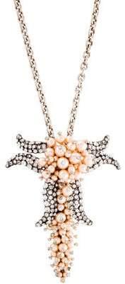Balenciaga Edition Faux Pearl & Crystal Convertible Pendant Necklace